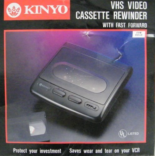 Kinyo VHS Video Cassette Rewinder VR-1601 With Fast Forward by Kinyo