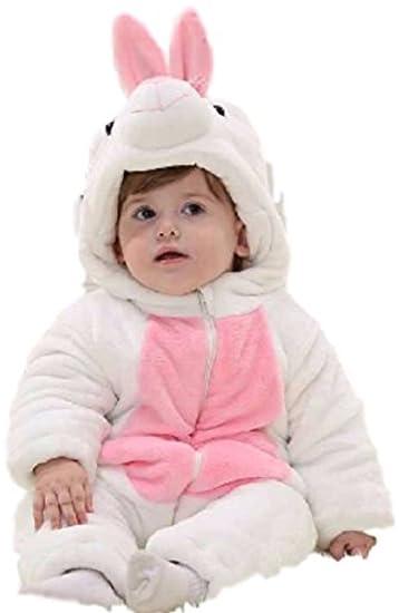 HarrowandSmith bebé niña Pelele Onesie Body Blanco Conejo Rosa y Blanco cálido Mono Todo En Uno Mono Niña Niño: Amazon.es: Ropa y accesorios
