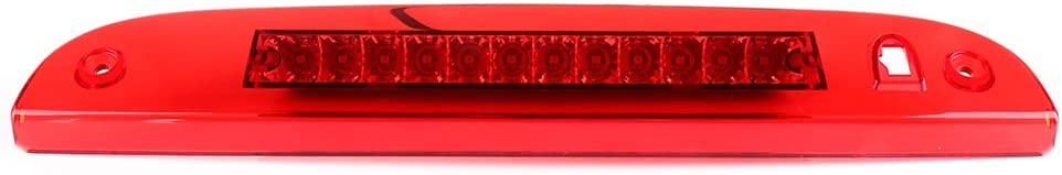 AUTOMUTO Rear Roof Center LED Third 3rd Brake Cargo Light Assembly High Mount Brake Tail Light Replacement for 11-15 Ford Explorer Chrome+Red Lens