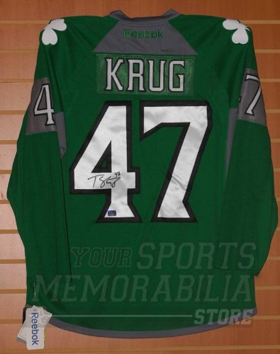 the latest 28474 5ed15 Torey Krug Boston Bruins Signed Autographed Authentic St ...