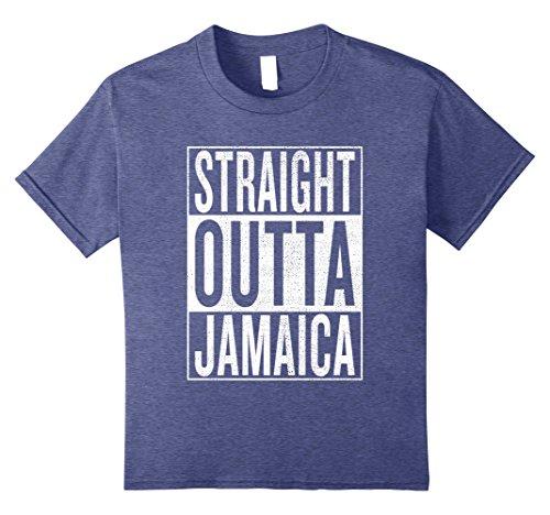 Kids Straight Outta Jamaica Great Travel   Gift Idea T Shirt 8 Heather Blue