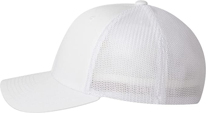 467e9cc8 Image Unavailable. Image not available for. Color: Yupoong Flexfit Trucker  Mesh Cap, WHITE ...