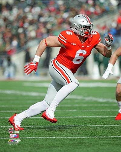 (Sam Hubbard Ohio State Buckeyes 2017 NCAA Action Photo (Size: 8