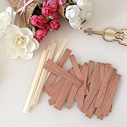 100 Piece 5 inch Wood Candle Wicks for Candle Maki