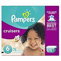 Pampers Cruisers Diapers Size 6, 76 Count