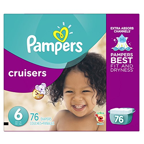 Pampers Cruisers Disposable Diapers Size 6, 76 Count, GIANT by Pampers