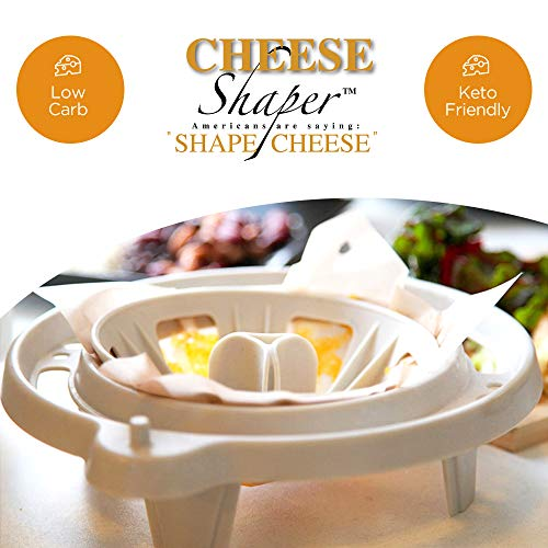 Cheese Shaper Kitchen Gadget, Make Cheese Crisps, Bowls, Taco Shells & Snacks In The Microwave. Gluten Free, Low Carb, Keto- Kit Includes Base, Bowl Form, Taco Stand, 3 Re-Usable Sheets