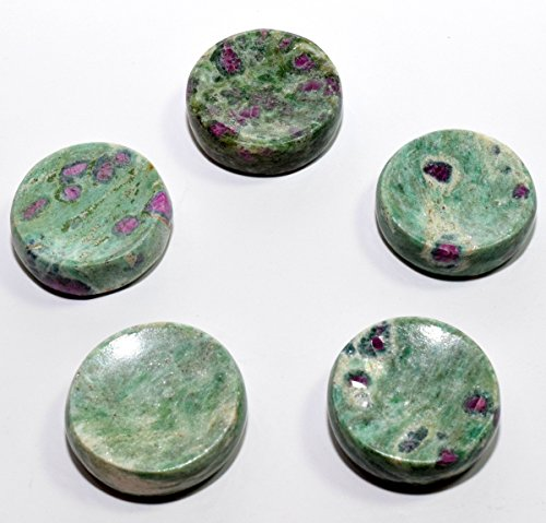 36mm Natural Rare Green Ruby Fuchsite w/ Blue Kyanite Stand for Spheres / Eggs Polished Crystal Gemstone Mineral from India - - Sphere Ruby Red