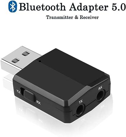 Car Wireless Audio Adapter Transmitter Receiver 3.5mm AUX Bluetooth 5.0