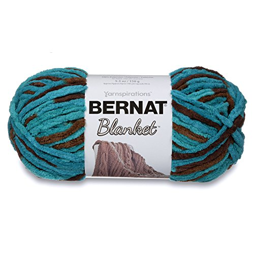 Bernat Blanket Super Bulky Yarn, 5.3oz, Guage 6 Super Bulky, Mallard Wood