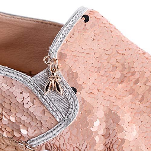 2v6955 Patrizia Donna All Scarpe Rosa silver Espadrillas Over Pepe Paillettes xwapqC1x