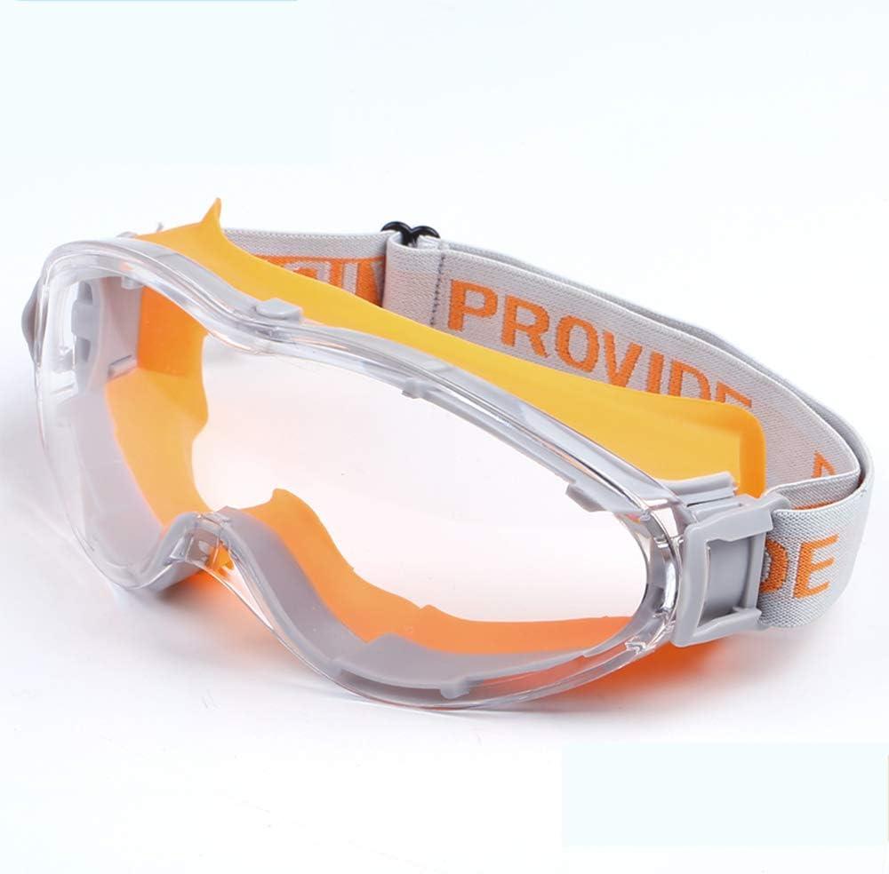 QQRH Gafas de Seguridad Lentes de protección Gafas Protectoras Lentes de Seguridad antivaho para Laboratorio,Agricultura,Industria con Lentes Antiarañazos Gafas de protección antivaho