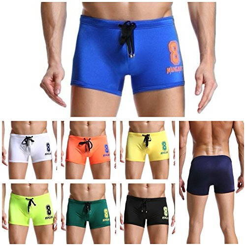 WANGJIANG Men's Swim Trunks Bikini Boxer Quick Dry Swimwear Shorts Slim Wear (XL, - European Swim Trunks Men's
