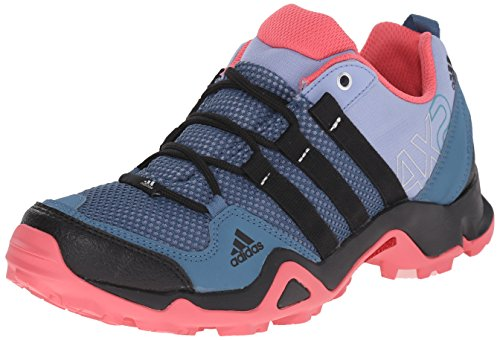 adidas Outdoor Women's Ax2 Hiking Shoe, Prism Blue/Black/Super Blush, 9 M US