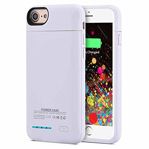 Kujian iPhone 7 Plus Battery Case,4200mAh Slim Charging Case with Free Screen Protector for Mag Mount External Charger Case 5.5inch for iPhone 7 plus/ 6 plus/6S plus - Case Pack Magnet