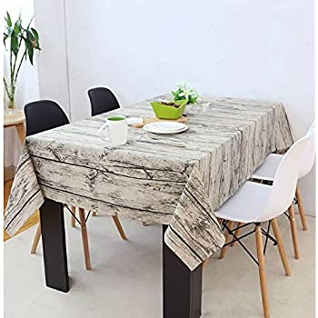 Yanyi Wood Rectangle Cotton Linen Table Cloth, Square Restaurant Table  Covers For Dining Party Cafe