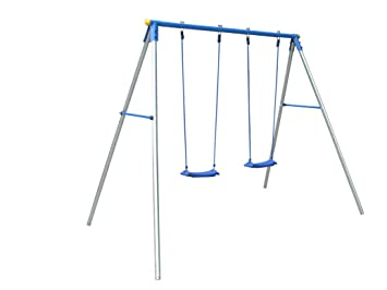 childrens metal double swing frame with 2 swing seats - Metal Swing Frame