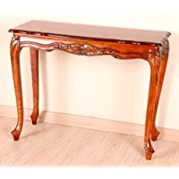 International Caravan 3829-IC Furniture Piece Carved Wood Console Table, Antique