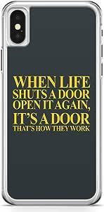 iPhone X Transparent Edge Phone Case Doors Phone Case Life Phone Case Move On Phone Case Breakup iPhone X Cover with Transparent Frame