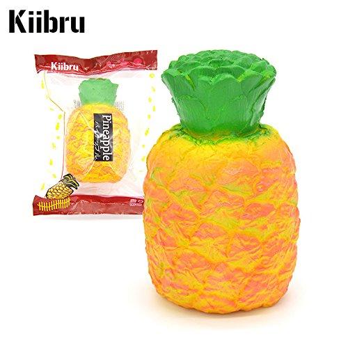 Kiibru Squishy Pineapple 14CM Super Slow Rising Scented Fruit Kid Toy Fun Doll