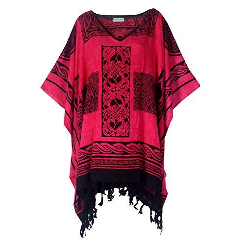 Tropicalsale Women's 0143 Pink Celtic Caftan Tunic Top Big Plus Size