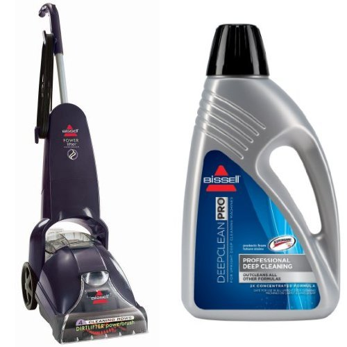 Professional Deep Cleaning Bundle - PowerLifter PowerBrush + Deep Clean Pro 2X Deep Cleaning Formula, 48 (48 Ounce Carpet Cleaner)