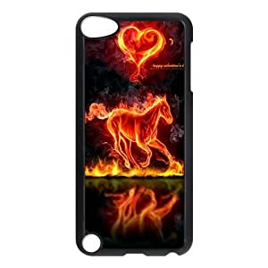 Personalized Creative Love Horse Ipod Touch 5th Case Cover Fire