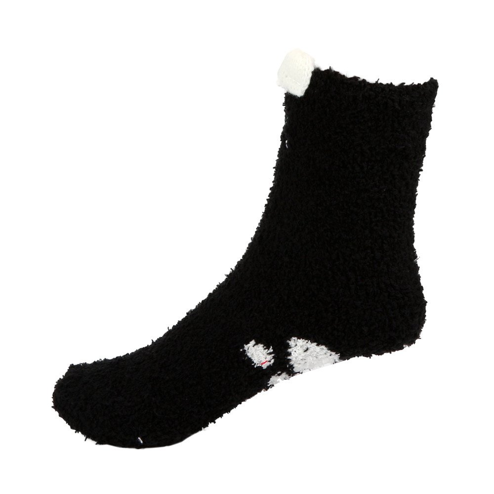 xuzomedia 6 Pairs Womens Fuzzy Socks Winter Warm Plush Fluffy Soft Slipper Socks Home Cute Cat Claw Sleping Socks