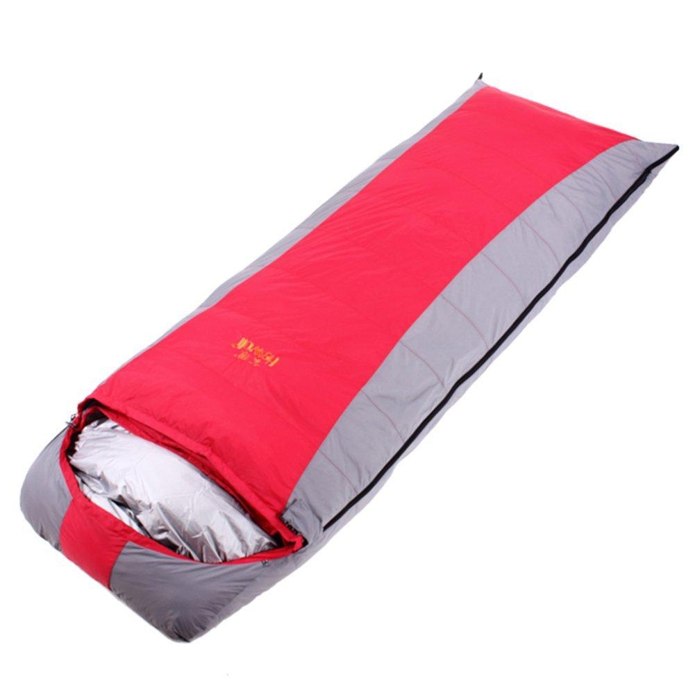 Erwachsene im Freien Schlafsack/Indoor Umschlag Schlafsack/Ente unten dicke warme Herbst und Winter Camping-Schlafsack