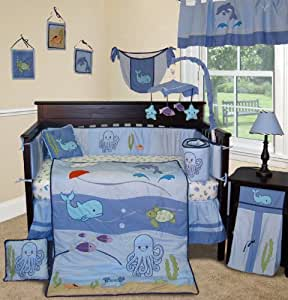 Amazon Com Sisi Baby Bedding Under The Sea 13 Pcs Boy