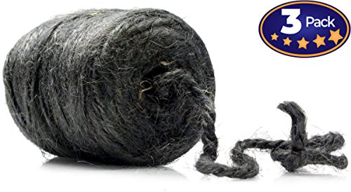(High-Strength Jute Twine 200ft, 3 Roll Pack. Pro-Grade, 3-Ply Cord Rated at 48lb. Center-Pull for Easy Use. Made of Natural, Eco-Friendly Vegetable Fibers. Great for Strapping, Tying Packages & More.)