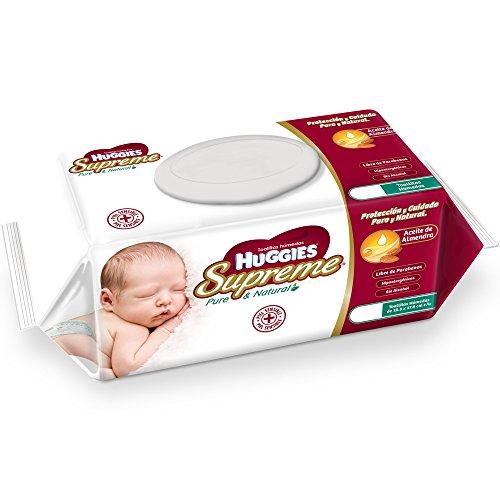 Huggies Toallas Húmedas para Bebé Supreme Pure & Natural, 864 Toallas