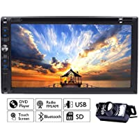Multimedia Automotive Parts Autoradio 2 Din In Dash Headunit iPod TV Car Stereo Auto Radio DVD Player Electronics CD In Deck Car Video LCD Screen logo Remote control Built in Backup Camera