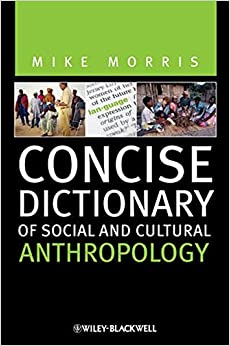 Book Concise Dictionary of Social and Cultural Anthropology