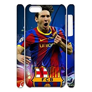 3D Print FC Barcelona Famous Football Star&Messi Case Cover for iPhone 5C- Personalized Hard Cell Phone Back Protective Case Shell-Perfect as gift
