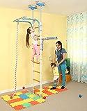Kids Jeux Play Set pour sol & plafond/Famille intérieur Formation Gym Sport Set avec accessoires Équipement: Grimpeur, corde d'escalade et les anneaux de gymnastique/Convient pour appartement, l'école, chambre d'enfant et salle/wallbarz Transformateur