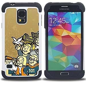 - Vault Boy Family - Funny - Fall0Ut/ H???¡¯????brido 3in1 Deluxe Impreso duro Soft Alto Impacto caja de la armadura Defender - SHIMIN CAO - For Samsung Galaxy S5 I9600 G9009 G9008V