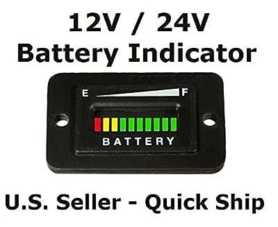 Automotive Authority LLC® 12V 12 Volt Marine Trolling Motor Battery Indicator Charge Status Power Meter