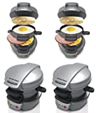 Hamilton Beach Breakfast Sandwich Maker Black, Silver