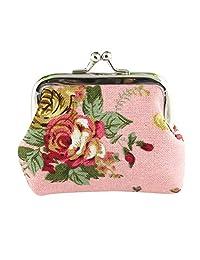 Mapletop Women Hasp Purse Lady Small Wallet Retro Vintage Flower Clutch Bag