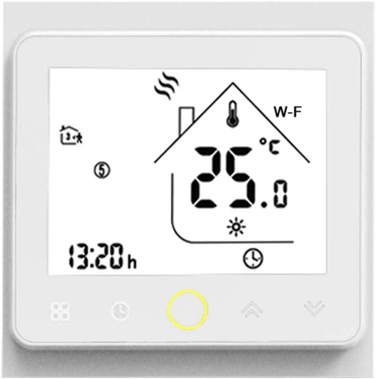 Galapara WiFi Programable Digital Calderas De Gas Termostato Wi-Fi Smart Thermostat Temperature Controller App Control 5A Compatible con Alexa/Google Home Termostatos de Caldera de Agua