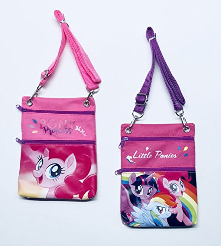 (My Little Pony Character Cross Shoulder Bags for Little Girls - Set of 2)