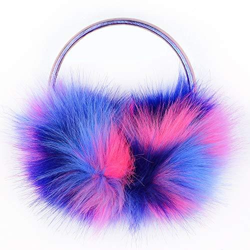 NWK Ear Muff Earmuff Ear Warmer for Women Girl 2018 Winter Fashion Chic Adjustable Wrap Faux Fur Outdoor (Dark)