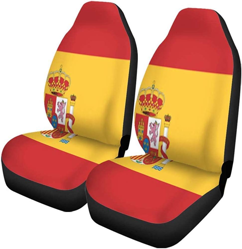 Xiaoyinghua Fundas para asientos de coche Bandera española de España Símbolo del emblema de Barcelona Madrid Accesorios para automóviles Protectores Decoración para el automóvil Universal: Amazon.es: Ropa y accesorios