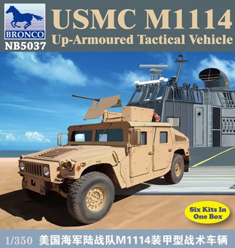 Bronco Models USMC M1114 Up-Armored Tactical Vehicle , Scale
