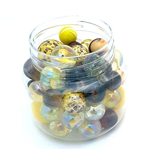 MaRécréation–Focus Titan Large Marbles, 9N-5gg9-v9°F5Jar, Yellow ()