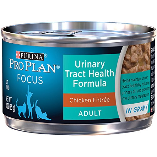 Purina Pro Plan FOCUS Adult Urinary Tract Health Formula Canned Cat Food – 3 oz. Cans (Pack of 24)