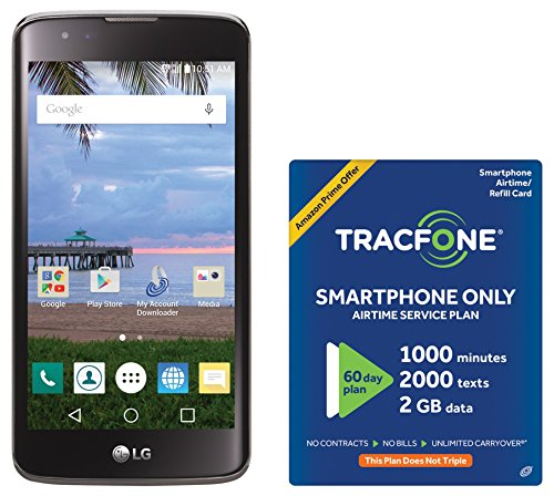 TracFone Treasure 4G LTE Prepaid Smartphone with Amazon Exclusive Free $40 Airtime Bundle