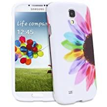 Fosmon MATT Series (Unique Painting Design) Rubberized Hard Case Cover for Samsung Galaxy S4 / S IV / GT-I9500 (Colorful Sunflower)