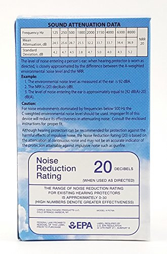 New Super Soft Adult EarPlanes® Ear Plugs Airplane Travel Ear Protection 10 Pair by Earplanes (Image #1)
